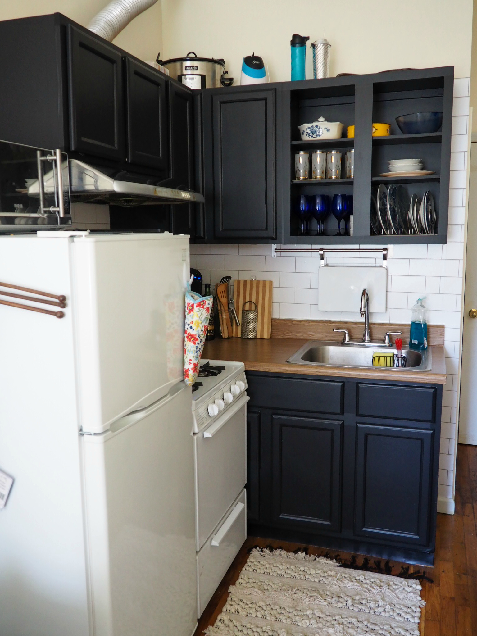 DIY Contact Paper Kitchen Update Part 1: Cabinets - Roaming Home